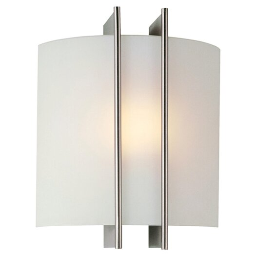 Lite Source Checks Linear 1 Light Wall Sconce in Polished Steel