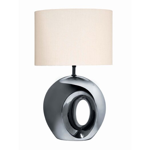 "Lite Source Ceramic 23.5"" H Table Lamp with Drum Shade"