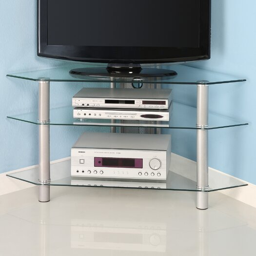 "Home Loft Concepts 44"" Glass Corner TV Stand"