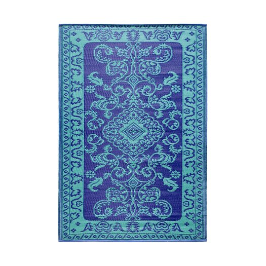 Koko Company Classic Duo Tone Blue Outdoor Area Rug