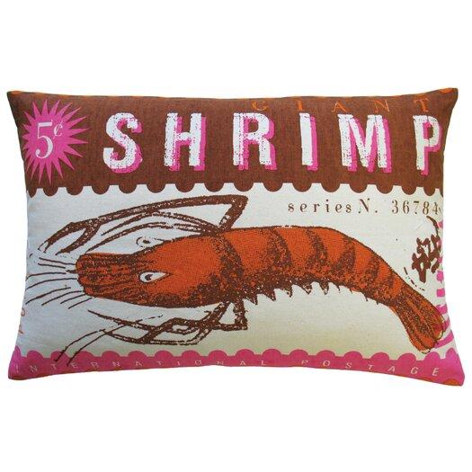 Koko Company Postage Cotton Shrimp Print Pillow