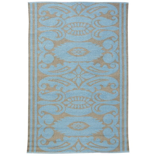 Koko Company India Lead/Aqua Outdoor Area Rug