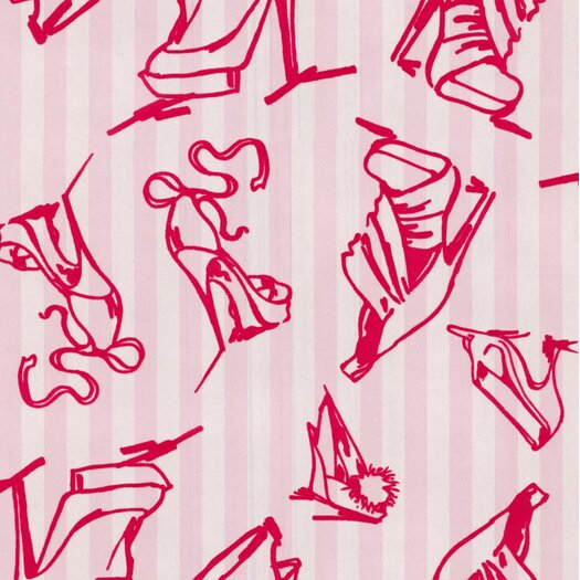 Graham & Brown Barbara Hulanicki Flock Shoes Flocked Wallpaper