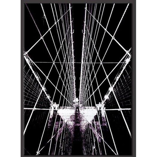 Brooklyn Bridge Structure Photographic Print on Canvas