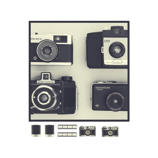 Graham & Brown Graham and Brown Camera Magnetic Graphic Art on Canvas