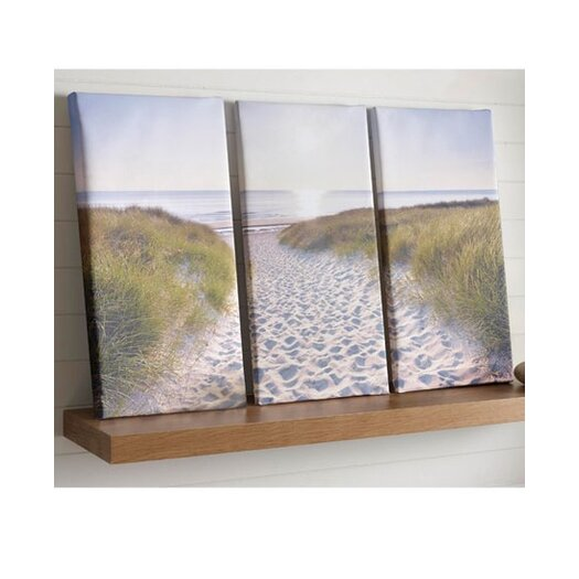 Graham & Brown Graham & Brown Beach Walk 3 Piece Photogrpahic Print on Canvas Set