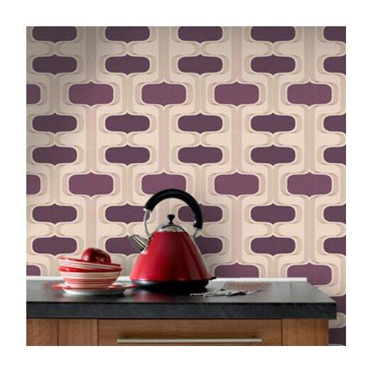 Graham & Brown Contour Kitchen and Bath Groovy Geometric Wallpaper