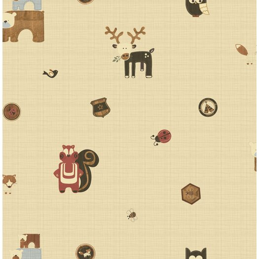 Graham & Brown Forager Woodland Critters Wallpaper