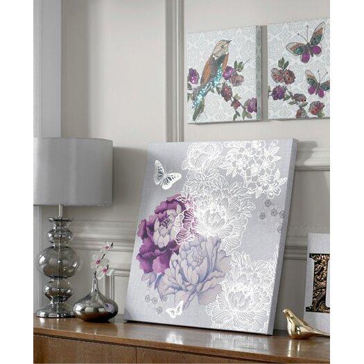 Graham & Brown Floral Metallic Graphic Art on Canvas