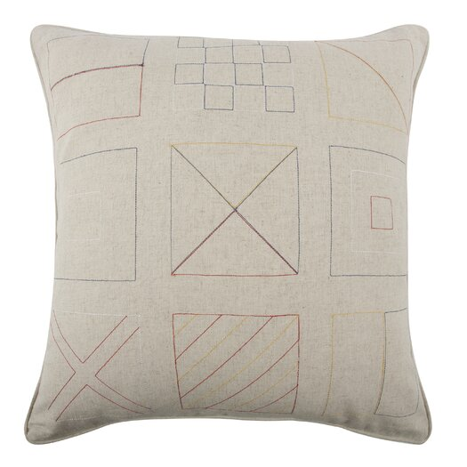 Flags Embroidered Pillow
