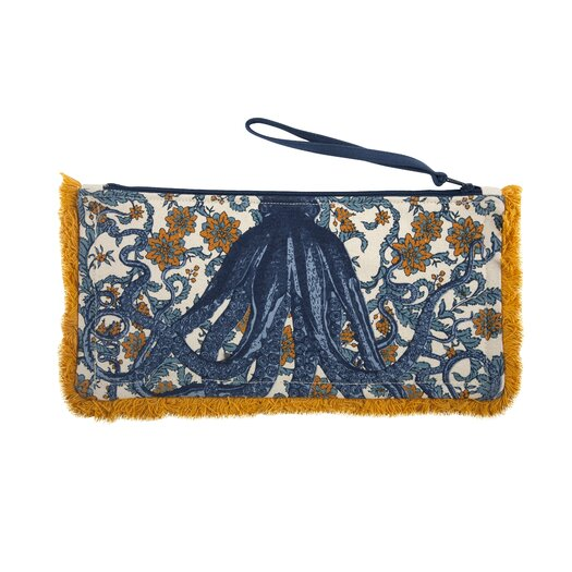 Thomas Paul Octopus Fringed Pouch