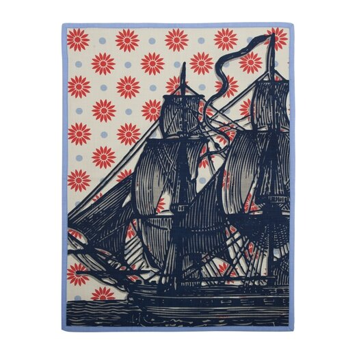 Thomas Paul Vineyard Ship Tea Towel