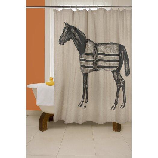 Equestrian Flax Shower Curtain