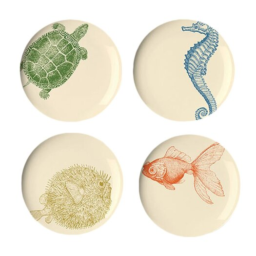 "Thomas Paul Sea Life 9"" Dessert Plates"