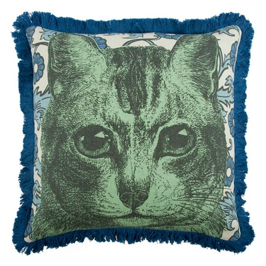 "Thomas Paul 18"" Cat Pillow"