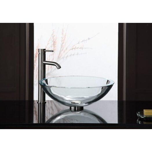 Ryvyr UltraGlass Clear Vessel Bathroom Sink