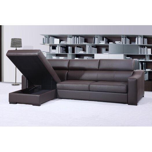 Ritz Leather Sectional Sleeper