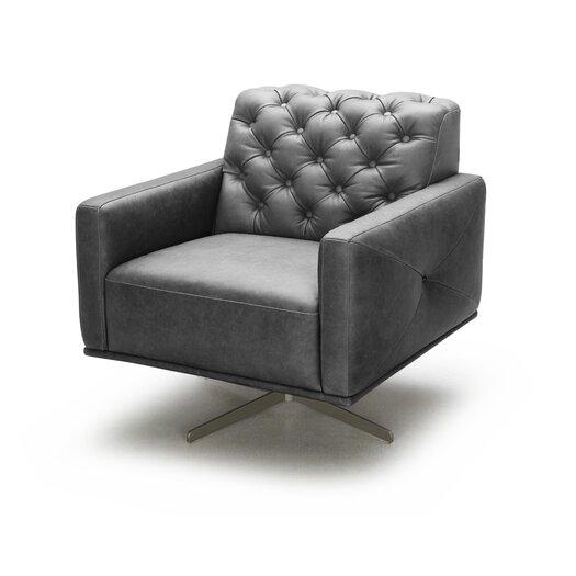 Othello Italian Leather Swivel Chair