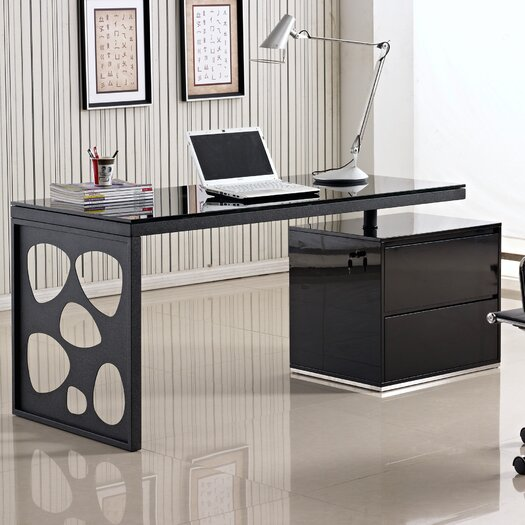 J Amp M Furniture Modern Computer Desk With Hutch Allmodern
