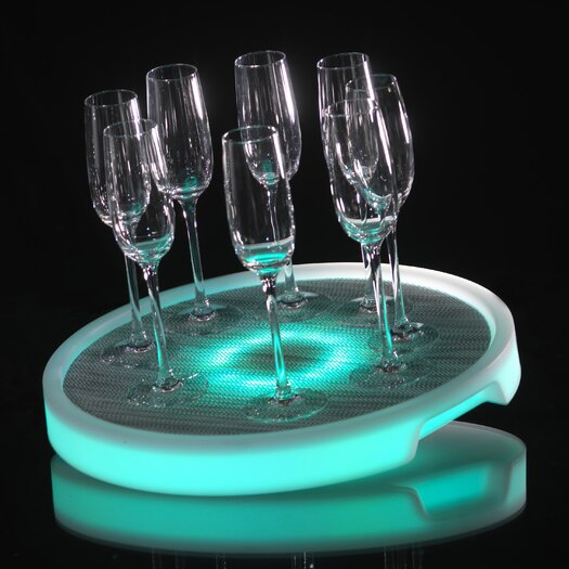 Infinita Corporation Imagilights LED Tron Round Serving Tray