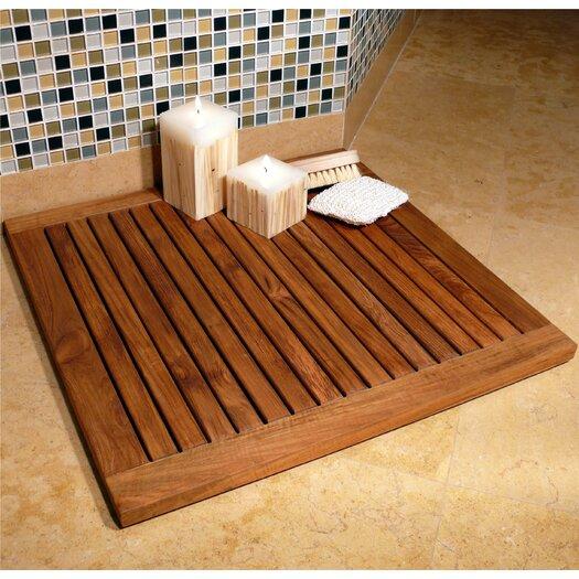 "Infinita Corporation Le Spa 24"" Square Framed Teak Floor and Shower Tile in Oiled Finish"