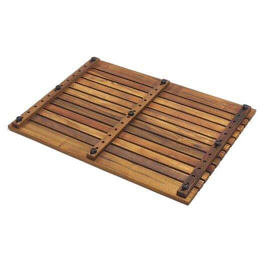 Infinita Corporation Le Spa Teak Floor and Shower Mat