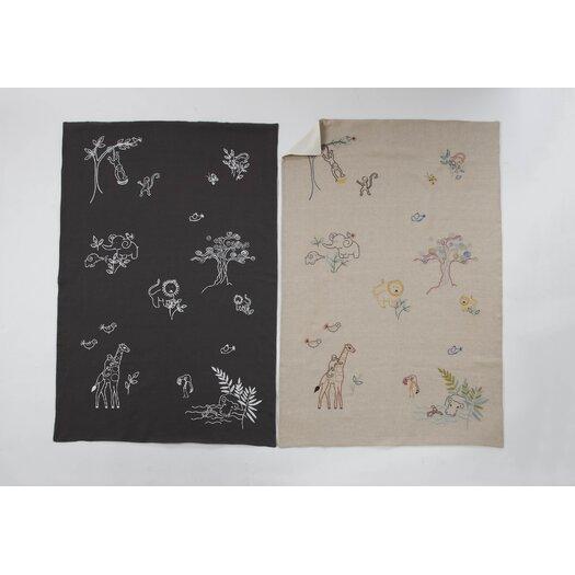 Coyuchi Critter Embroidered Linen Baby Blanket