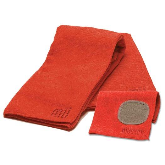 MU Kitchen MUmodern Dishcloth and Dishtowel Set in Crimson