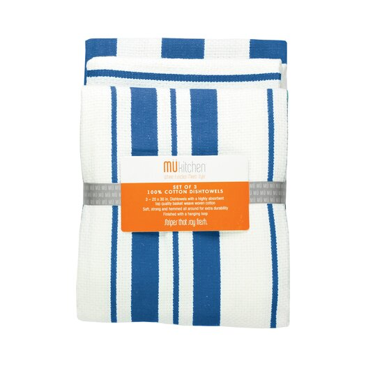 "MU Kitchen 20"" x 30"" Cotton Stripe Dishtowel"