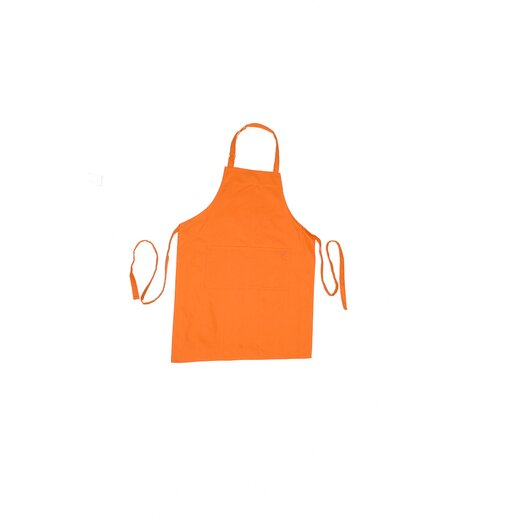 "MU Kitchen MUincotton 35"" Full Apron in Orange"