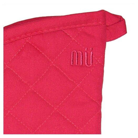 "MU Kitchen MUincotton 13"" Oven Mitt in Crimson"