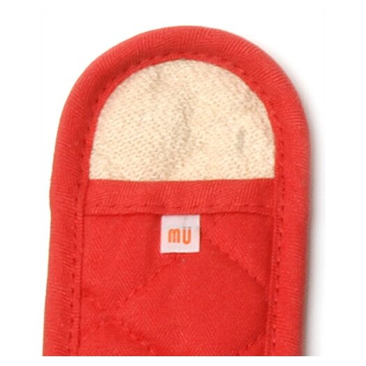 "MU Kitchen MUincotton 7"" Handleslip in Crimson"
