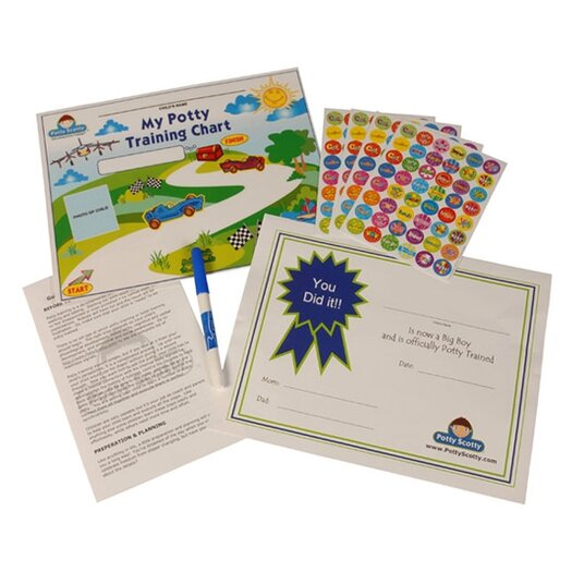 Mom Innovations Potty Scotty Potty Training Chart and Reward Sticker Set