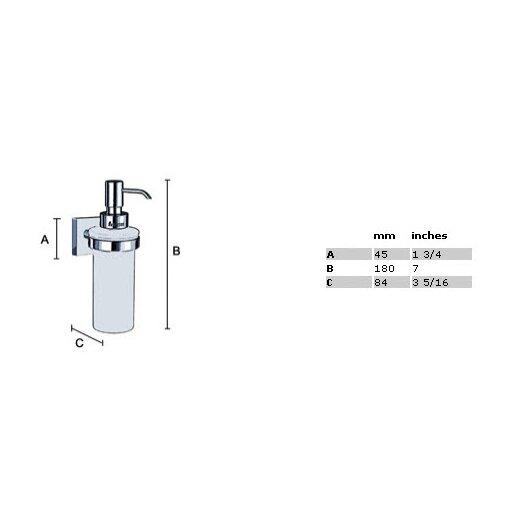 Smedbo House Holder with Glass Soap Dispenser