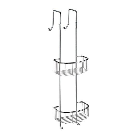 Smedbo Sideline Corner Double Soap Basket in Polished Chrome