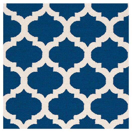 Surya Frontier Mediterranean Blue/White Winter Geometric Area Rug