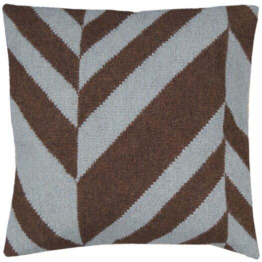 Surya Slanted Stripe Throw Pillow