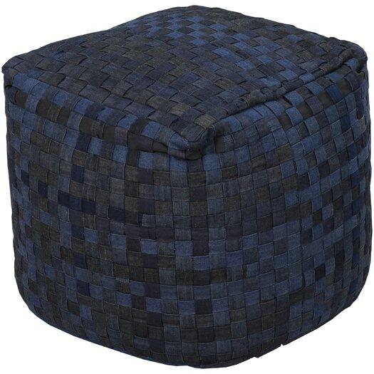 Surya Basketweave Pouf Ottoman