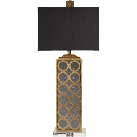 "Surya Madonna 33"" H Table Lamp with Rectanglue rShade"