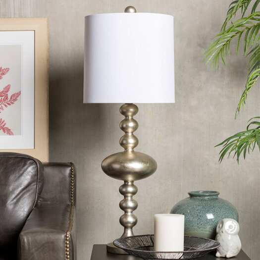"Surya Mahesh 35"" H Table Lamp with Drum Shade"