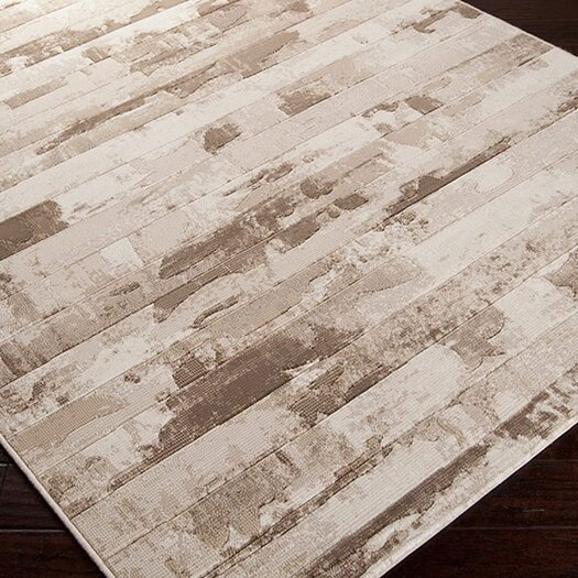 Surya Contempo Cream Stripes Area Rug