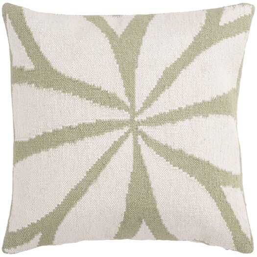 Surya Lush Leaf Pillow