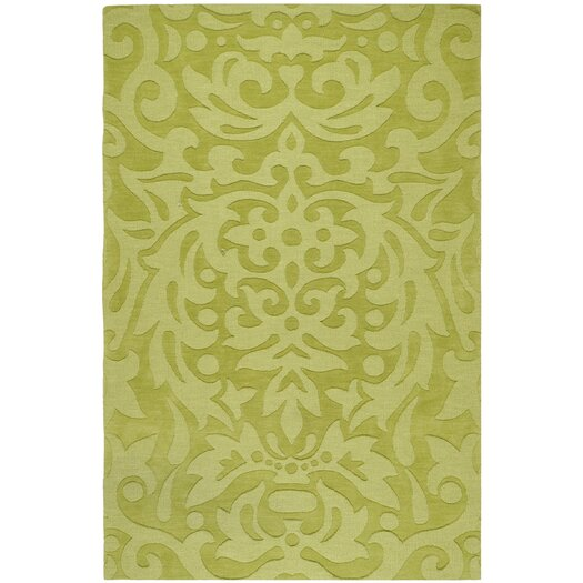 Surya Mystique Lime Green Floral Area Rug
