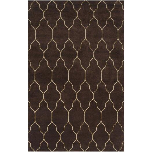 Surya Gates Chocolate/Ivory Geometric Area Rug