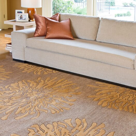 Surya Bombay Peach Tawny Brown Area Rug