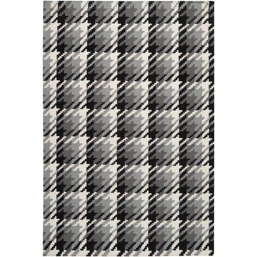 Surya Frontier Jet Black/Pewter Area Rug
