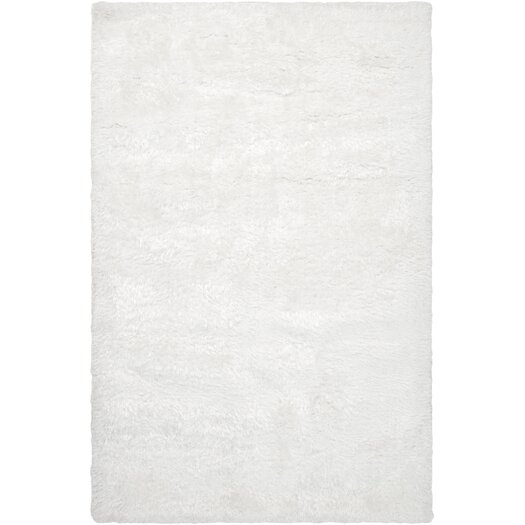 Surya Grizzly White Solid Area Rug