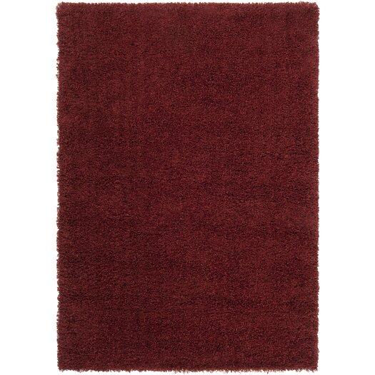Surya Luxury Shag Sienna/Brick Red Rug