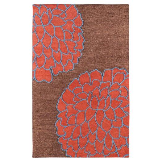 Surya Artist Studio Brown/Sky Red Area Rug