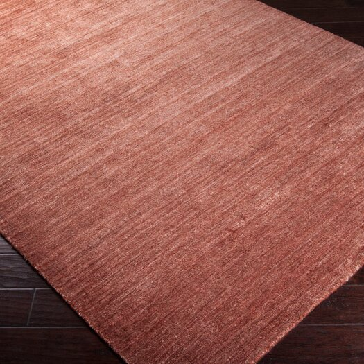 Surya Haize Paprika Brown Solid Rug